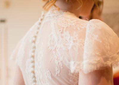 Détail robe mariage