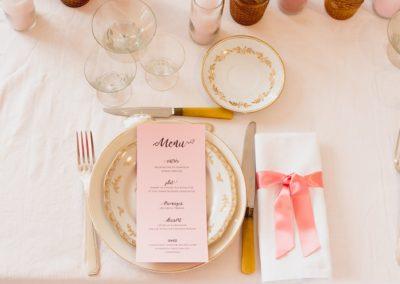 papeterie menu de mariage