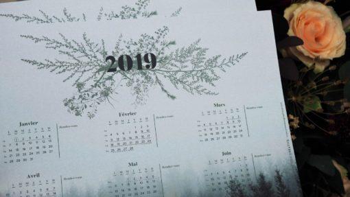 Calendrier 2019 Promesse Graphique