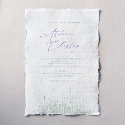 Faire-part papier artisanal